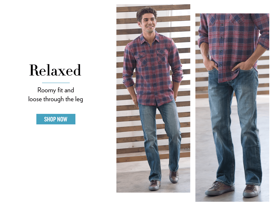 Relaxed and Regular Jeans