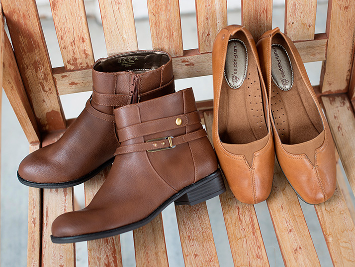 Women's Brown Ankle Boots & Hushpuppies Shoes