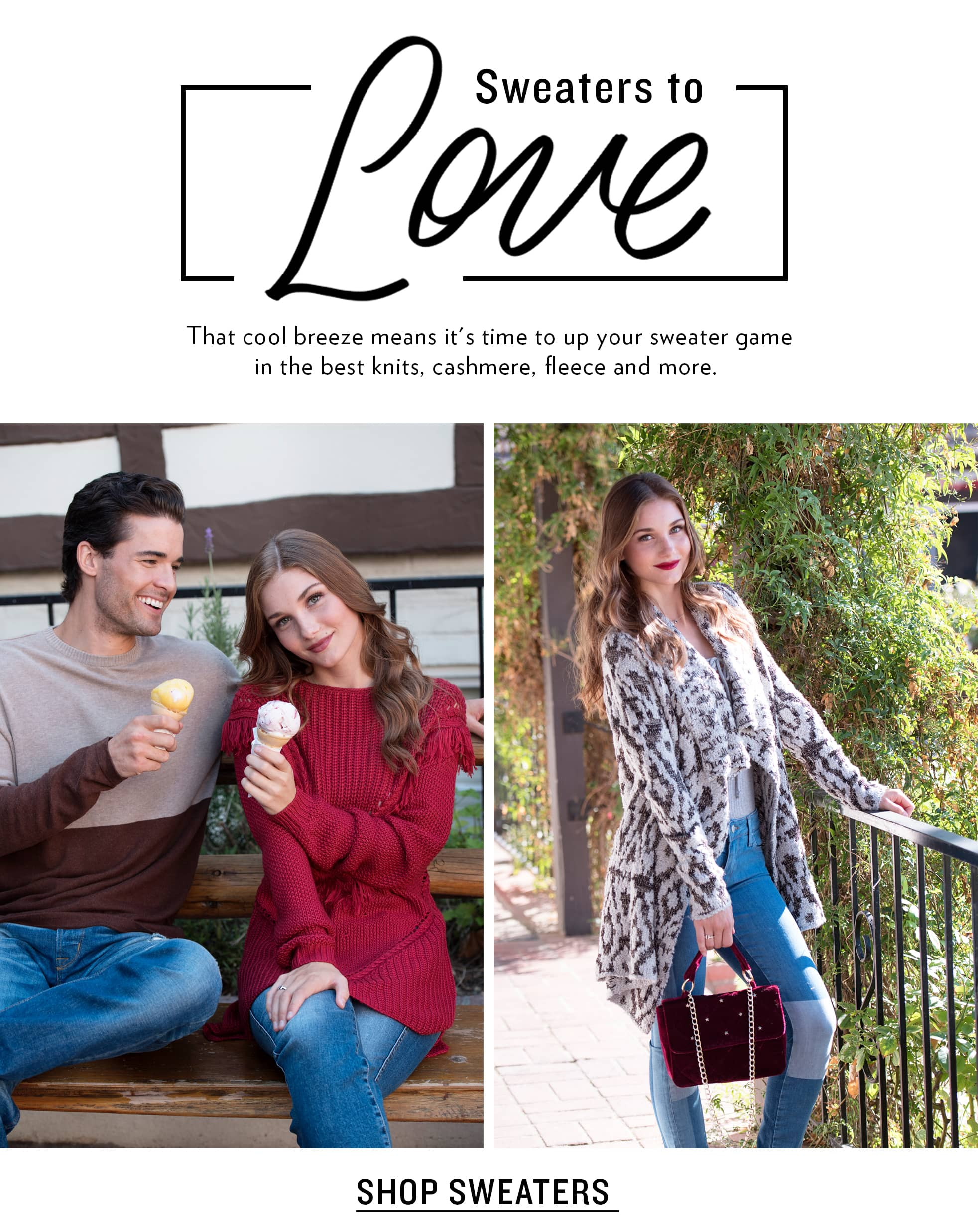 Men's And Women's Fall Sweaters