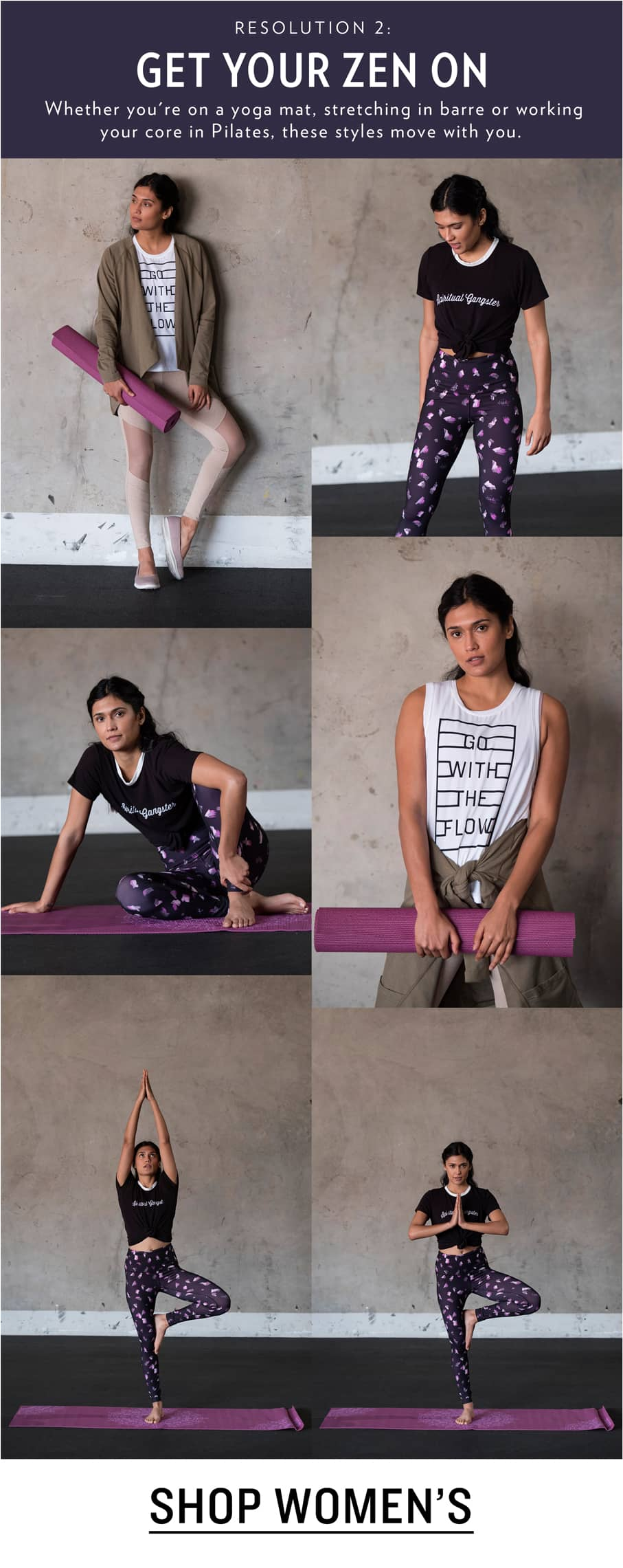 Studio and Yoga Clothing and Shoes