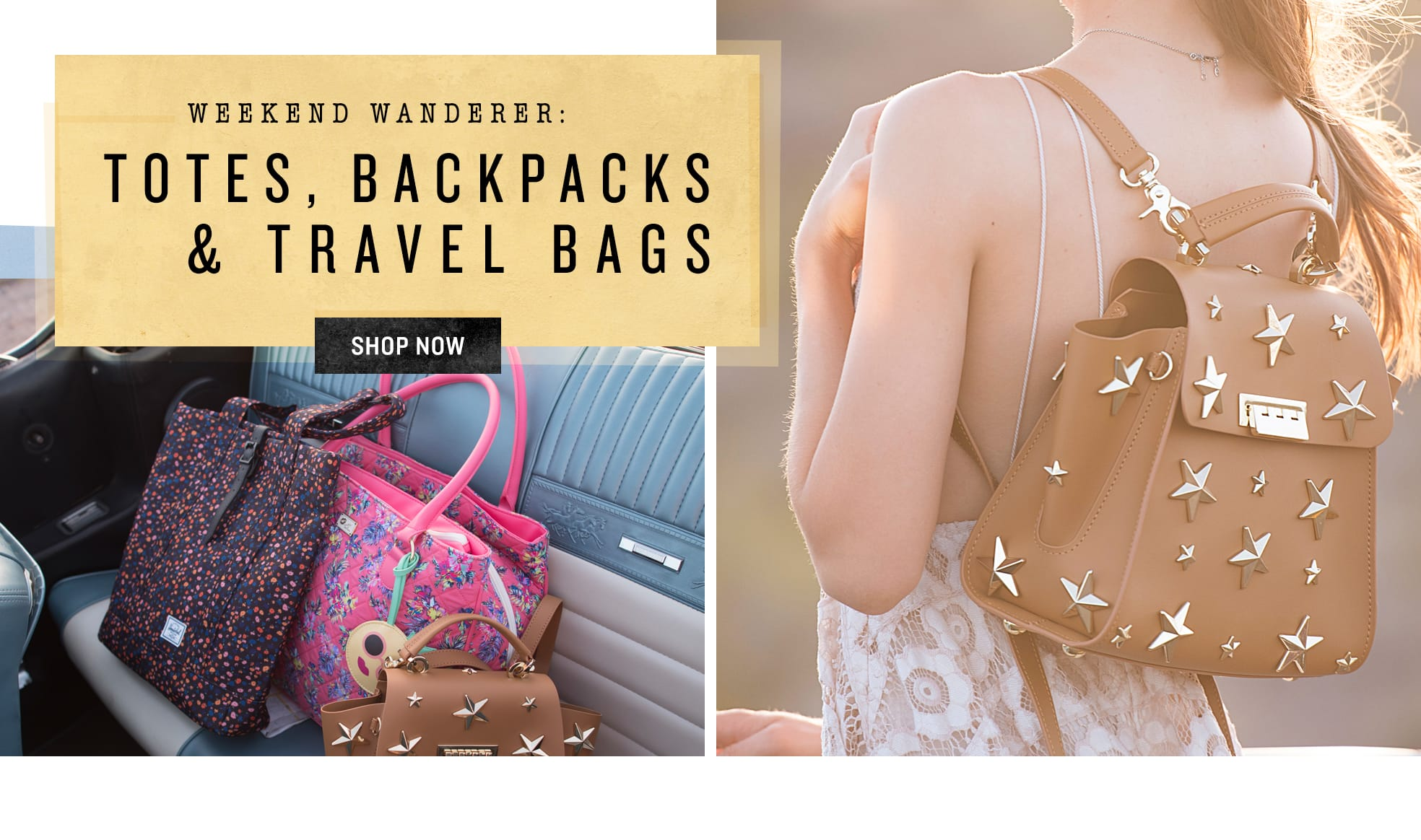 Shop Totes, Travel Bags & Backpacks