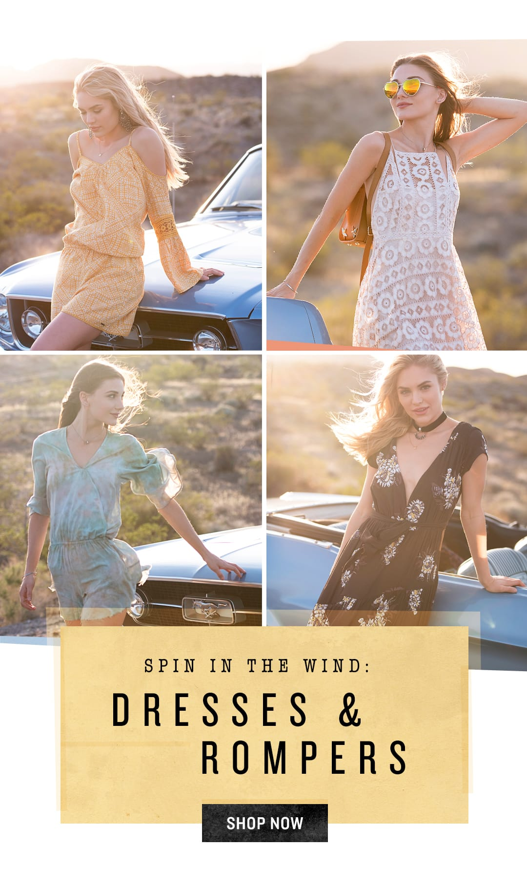 Shop Dresses and Rompers