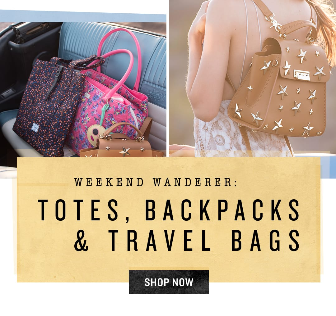 Shop Totes, Travel Bags & Backpacks