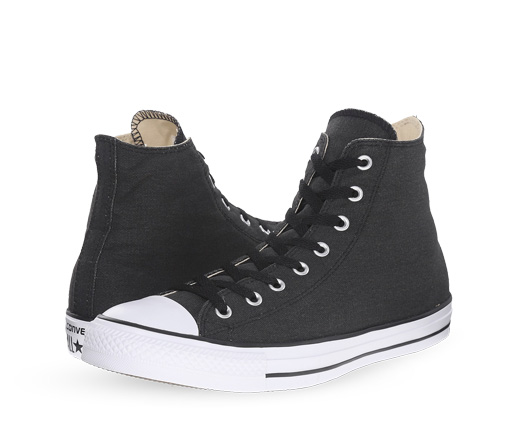 B 1/20 - Black And White Converse Sneakers
