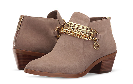 B 1/23 - MICHAEL Michael Kors Tan Bootie With Gold Chain