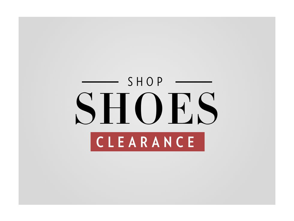 A 2/20 - PRESIDENTS' DAY CLEARANCE: Shoes