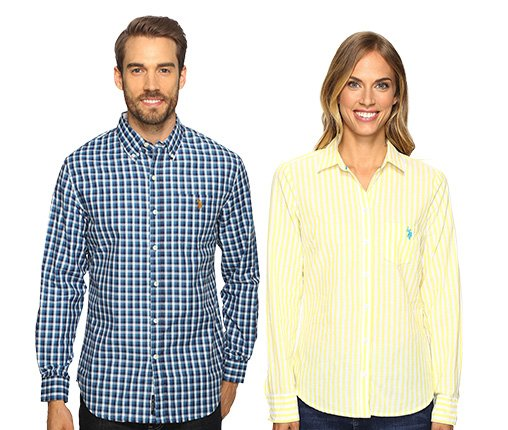 B 2/22 - U.S POLO ASSN. Men's Top And Women's Top