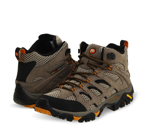 B 3/22 - Merrell Brown Hiking Boots