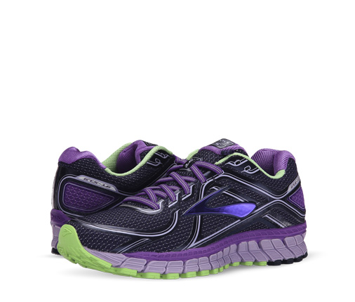 B 3/22 - Brooks Purple And Green Sneakers