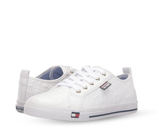 B 3/27 - Tommy Hilfiger White Classic Sneakers
