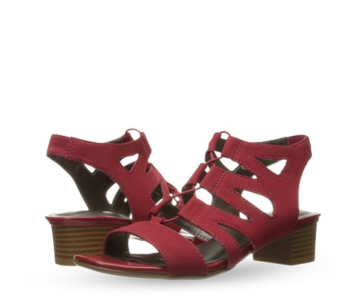 B 3/27 - LifeStride Red Strappy Sandal
