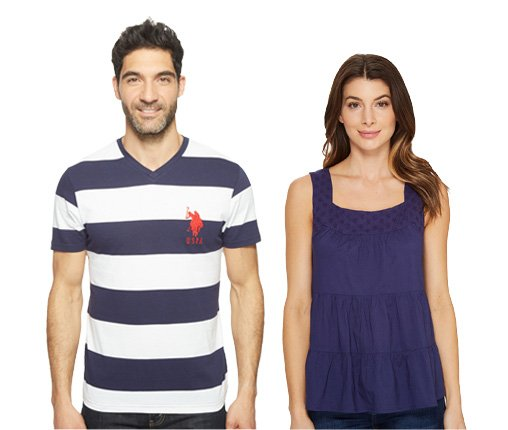 B 4/21 - U.S. POLO ASSN. Tops For Men And Women