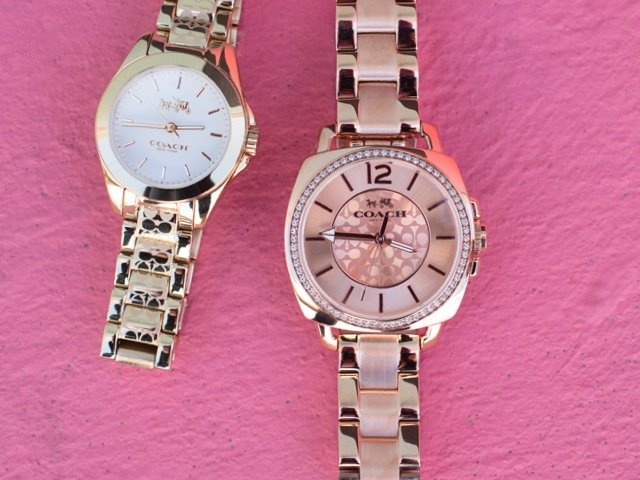 A 4/21 - Gold COACH And Marc Jacobs Watches