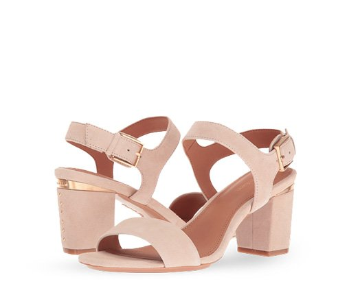 B 4/24 - Calvin Klein Blush Block Heels