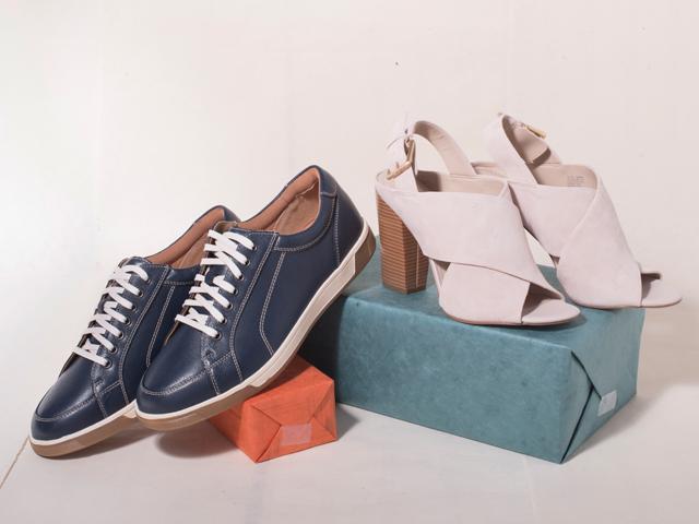 A 5/22 - Calvin Klein Heels And Cole Haan Sneakers