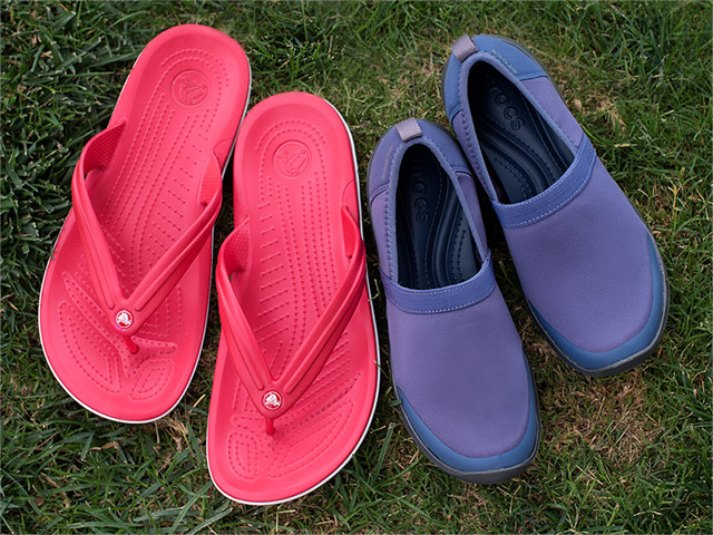 A 5/24 - Crocs Blue Slip-On Shoes