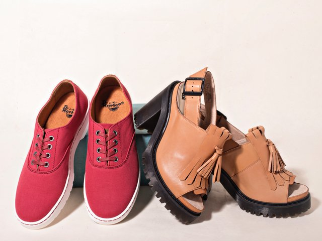 A 5/26 - Dr. Martens Red Shoes