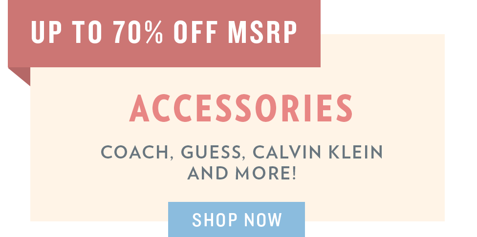 A 5/29 - Memorial Day Sale: Accessories
