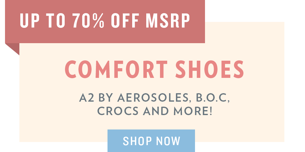 A 5/29 - Memorial Day Sale: Comfort Footwear