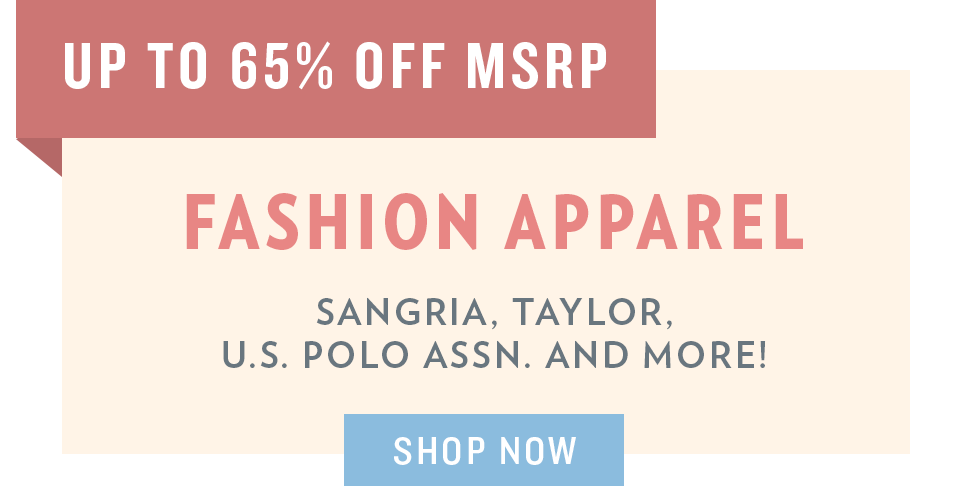 A 5/29 - Memorial Day Sale: Fashion Apparel