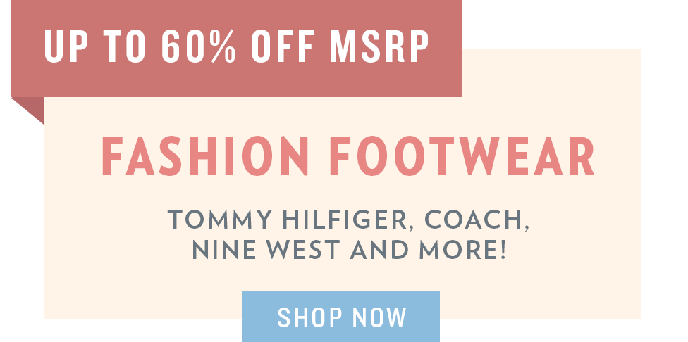 A 5/29 - Memorial Day Sale: Fashion Footwear