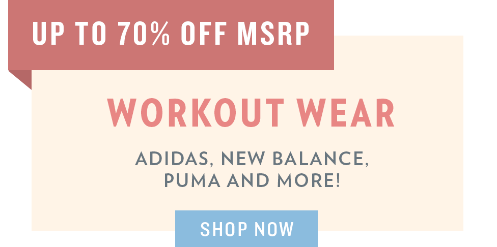 A 5/29 - Memorial Day Sale: Workout Wear
