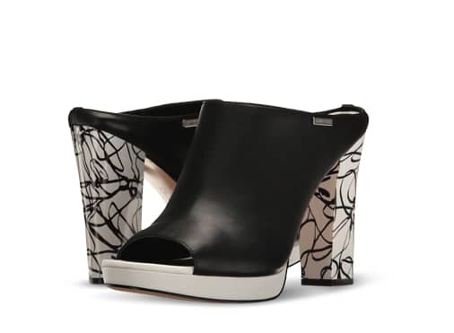 B 7/19 - Black And White Calvin Klein Heels