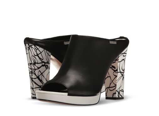 B 7/19 - Black And White Calvin Klein Heels