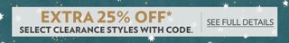 Extra 25% off with code