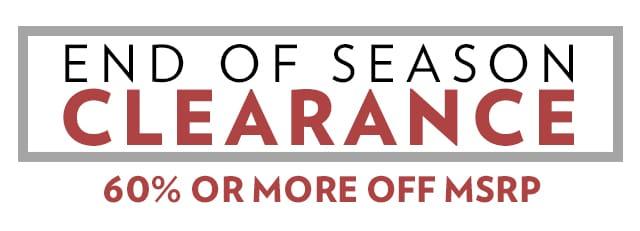 A 8/21 - End Of Season Clearance Shop All