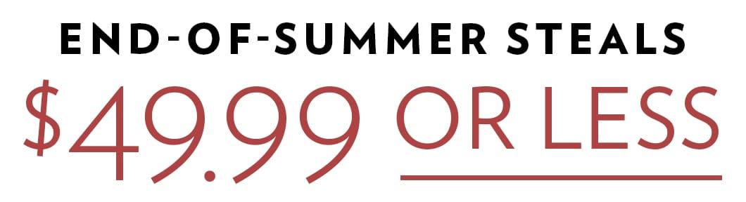 Shop All End-of-Summer Steals