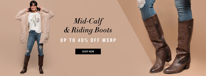 Shop Mid-Calf & Riding Boots