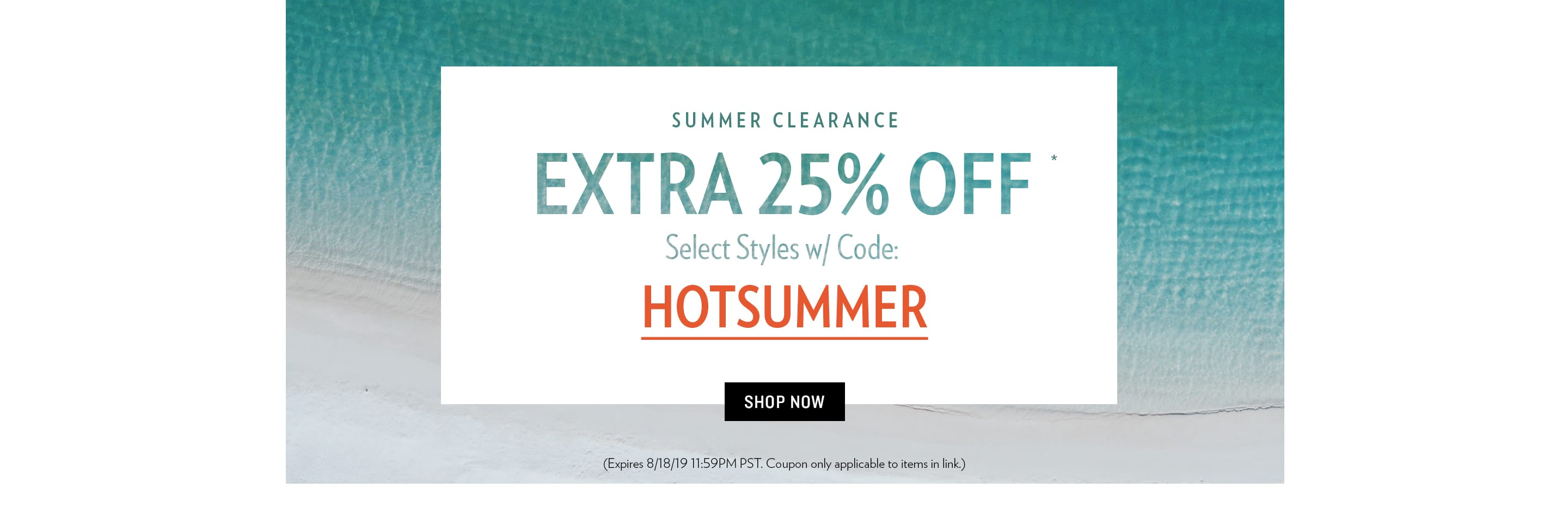 Summer Clearance Sale - 190818