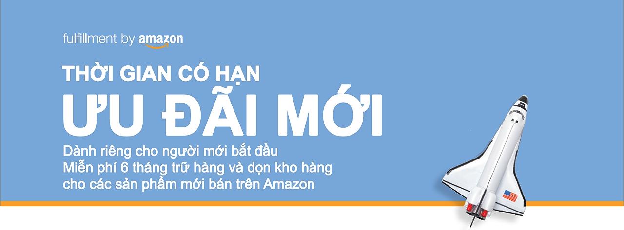 Ưu đãi miễn phí trữ kho hàng Amazon FBA