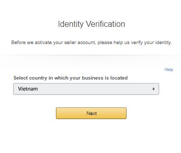 hướng dẫn đăng ký tài khoản amazon chọn tên quốc gia