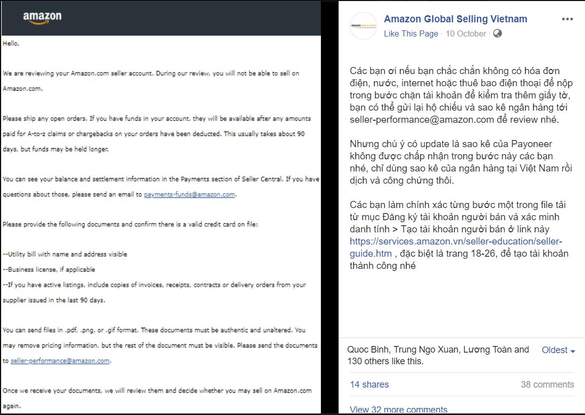 giấy tờ trong xác minh bước 2 khi đăng ký tài khoản bán hàng trên Amazon