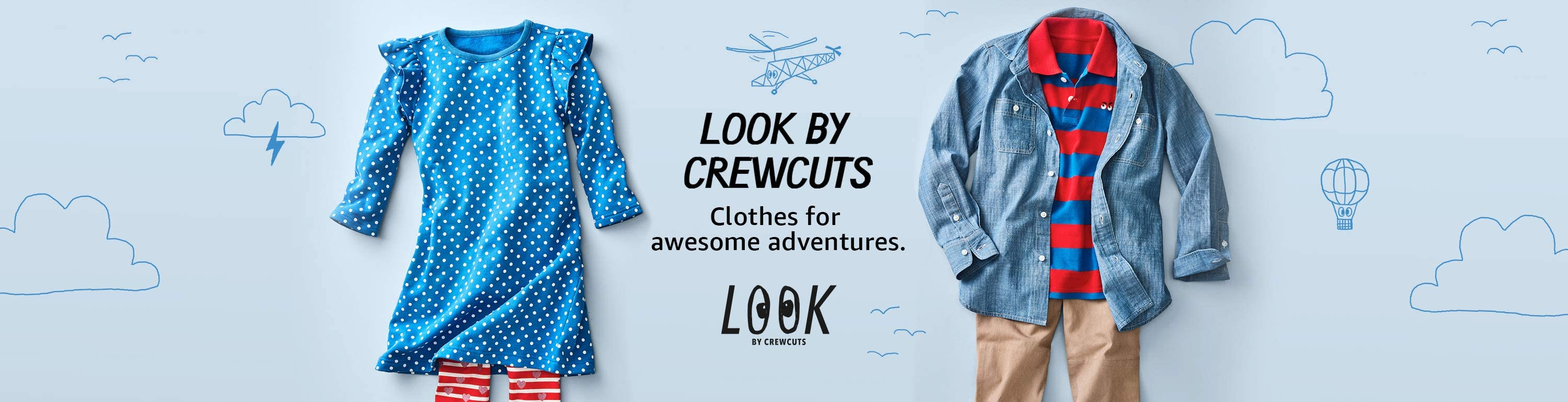 LOOK by crewcuts. Amazon exclusive kids clothing at great prices.