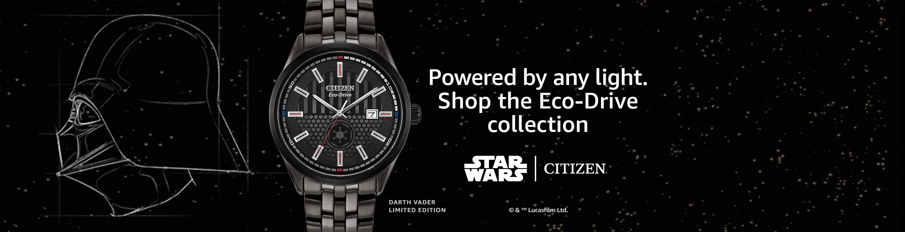 Powered by any light. Shop the Eco-Drive collection