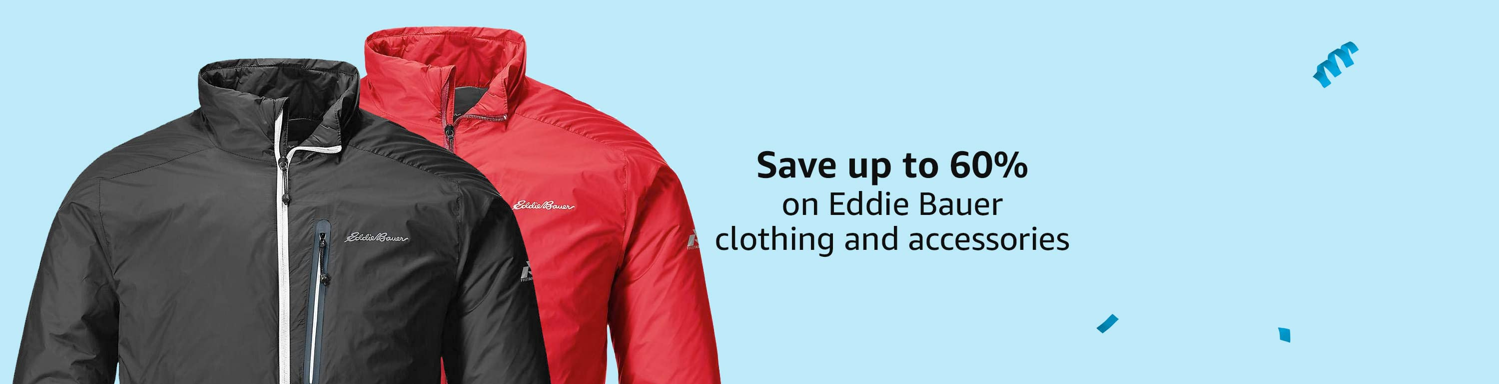Save up to 60% on Eddie Bauer clothing and accessories