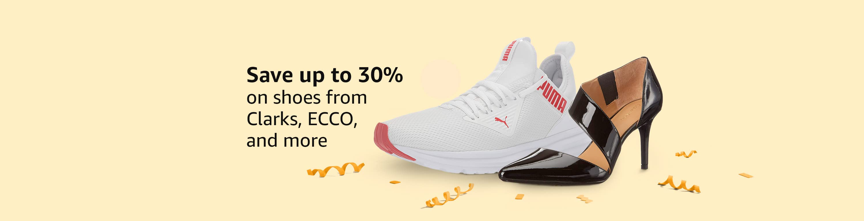 Save up to 30% on shoes from Clarks, Puma and more