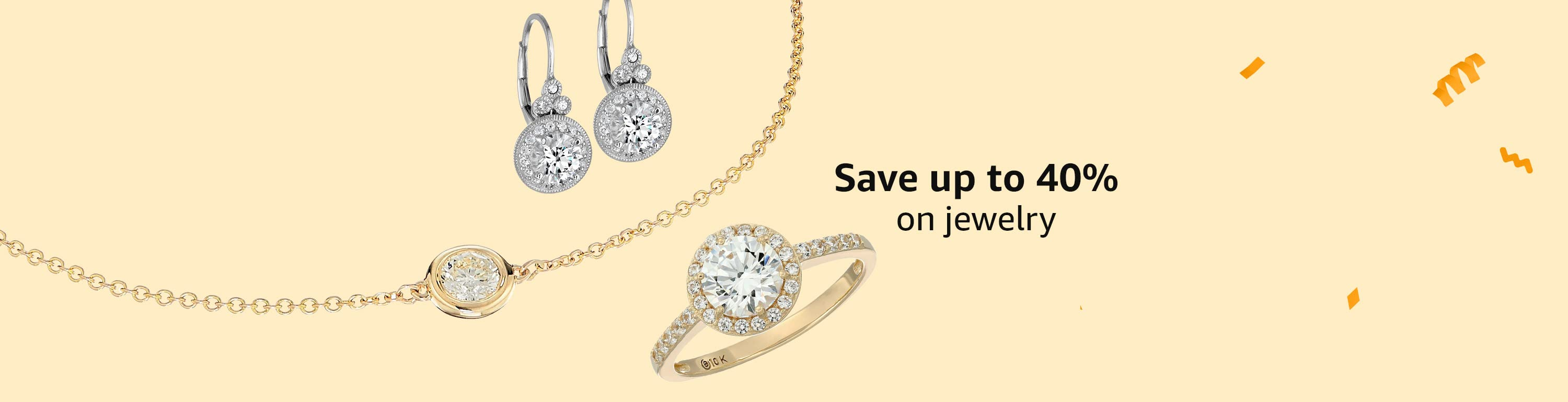 Save up to 40% on jewelry