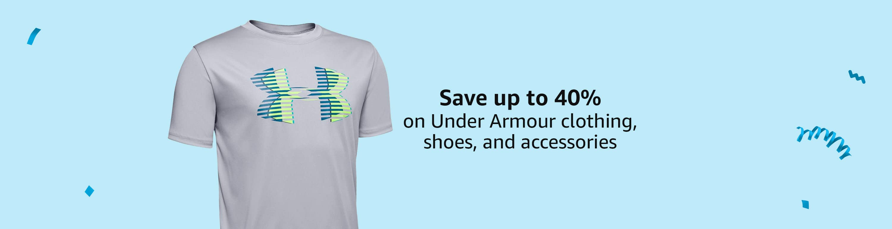 Save up to 40% on Under Armour clothing, shoes, and accessories