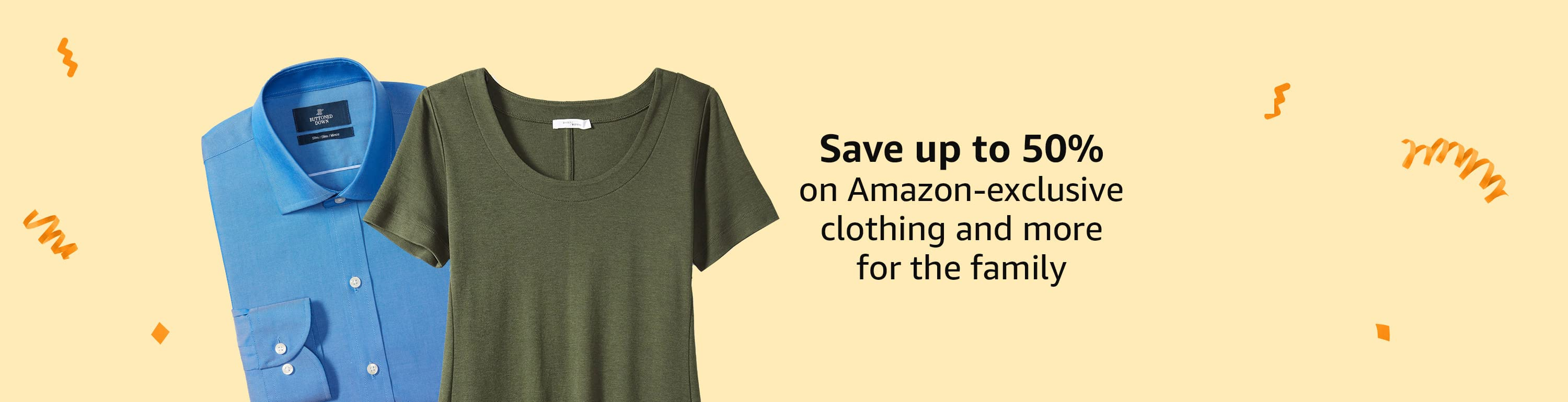 Save up to 50% on men's and women's fashion from our brands