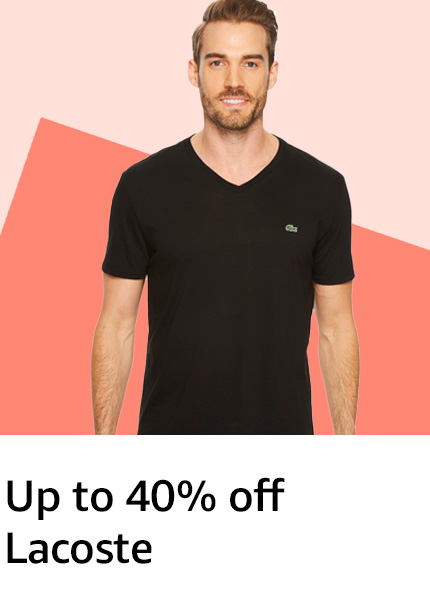 Save on Lacoste Apparel & More
