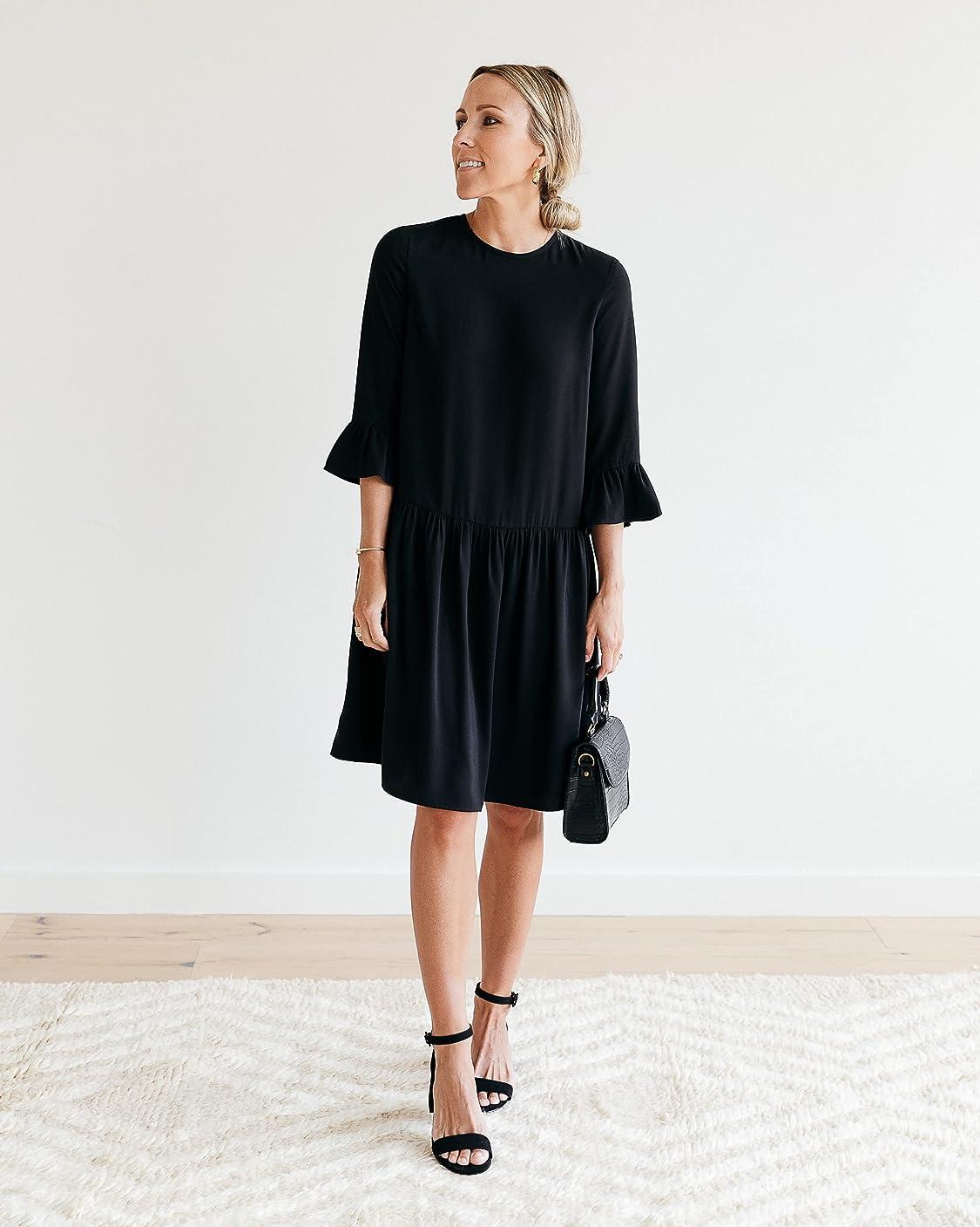 The Drop wears The Drop Women's Black Drop-Waist Dress by @jaceyduprie