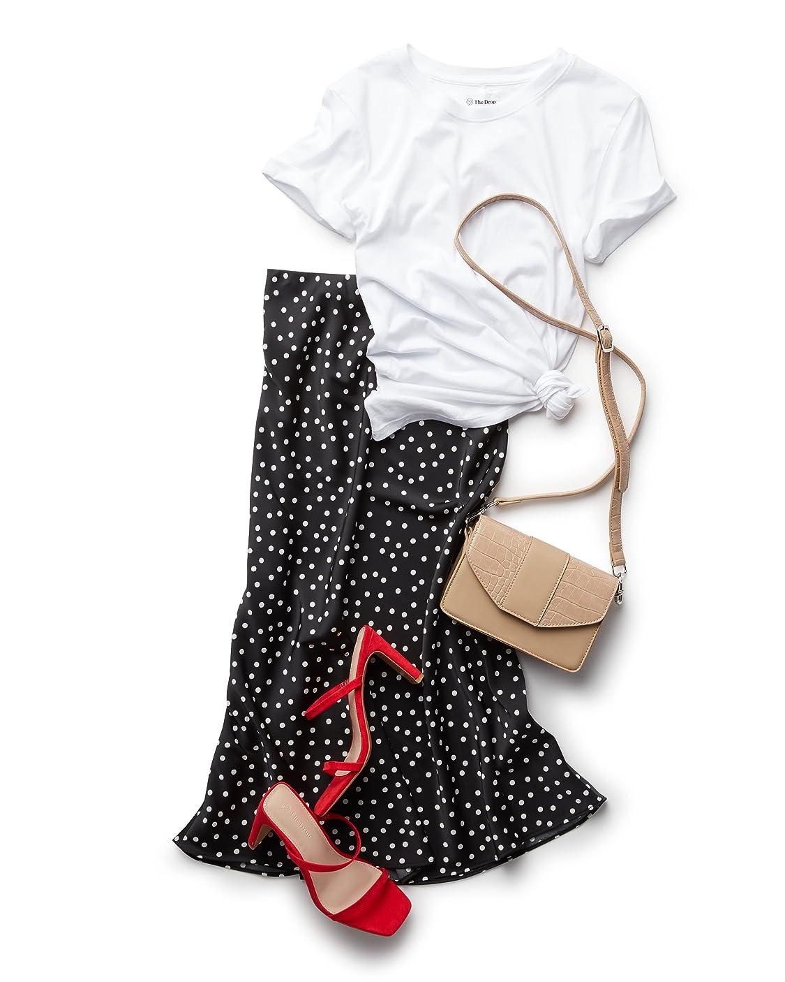 The Drop indossa Marchio Amazon - Charlotte T-shirt a girocollo, maniche corte di The Drop