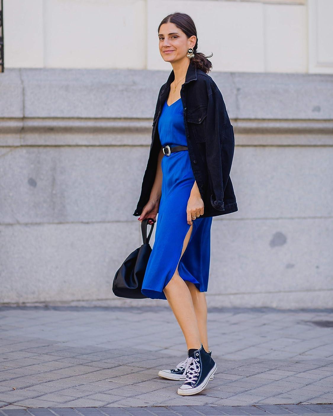 Belén Canalejo lleva Marca Amazon -   Andrea Chaqueta Vaquera de Gran Tamaño - denim-jackets Mujer por The Drop