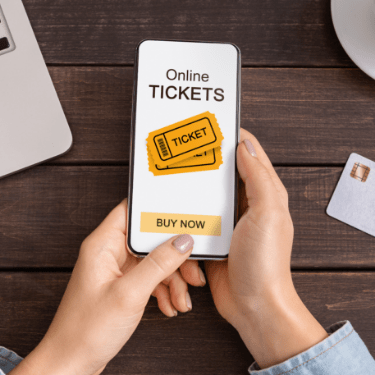 Securely process payments for tickets