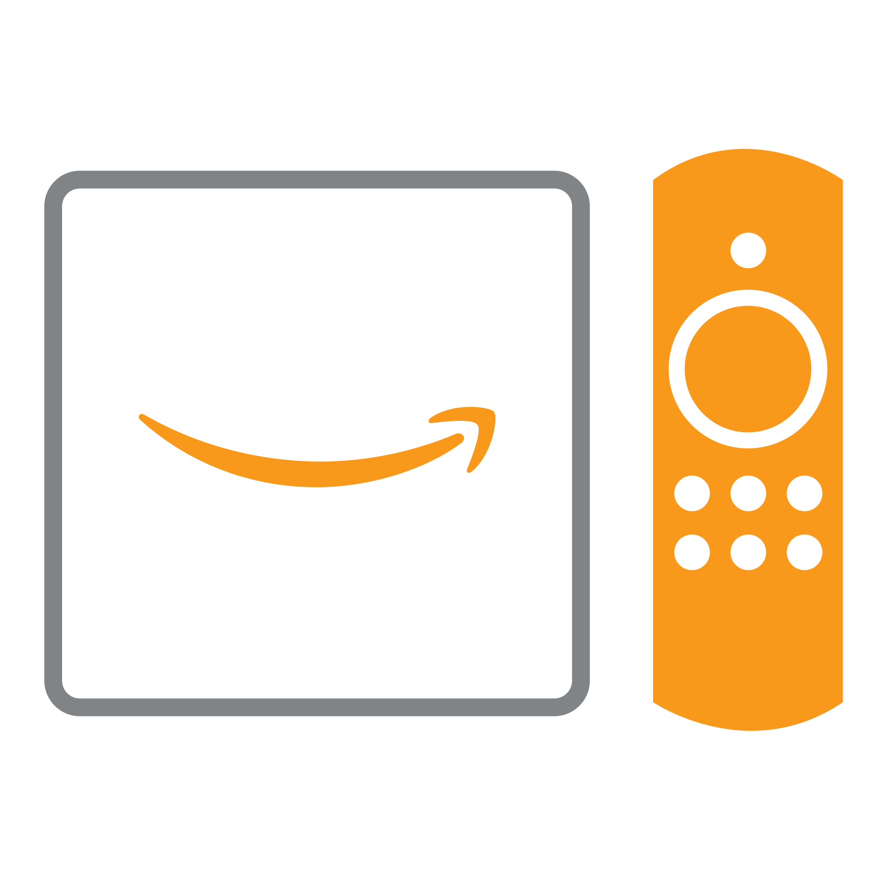 Fire TV screen and remote