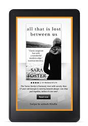 Full-screen ad on locked Kindle E-readers
